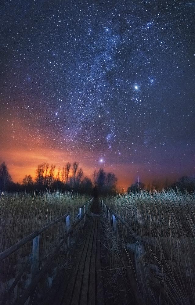 Стихи смотрю на небо звёздное