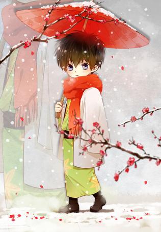 Фото Маленький Хиджиката Тоширо / Hijikata Toushirou из аниме Гинтама / Gintama, art by Feiqiuxuan