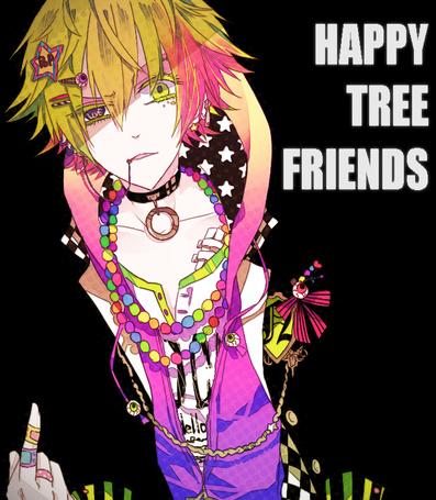 Фото Агрессивный Nutty / Сладкоежка из мультсериала Happy Tree Friends / Счастливые Лесные Друзья в стиле аниме