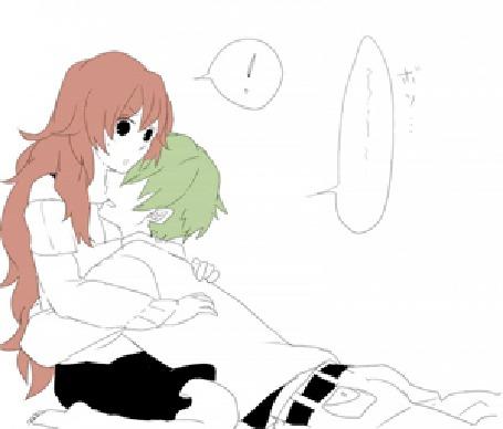 Фото Парень с зелеными волосами целует девушку в шею (© Foxs-muzzle), добавлено: 27.12.2013 18:46