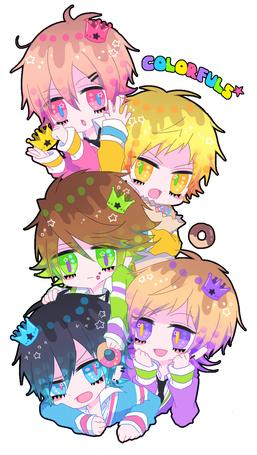 Фото Пять анимешных парней чибиков (colorfuls)