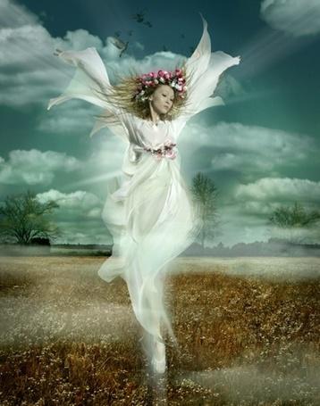 Фото Девушка в образе ангела полей, фотограф- Иосиф Бадалов, обработка - Danapra