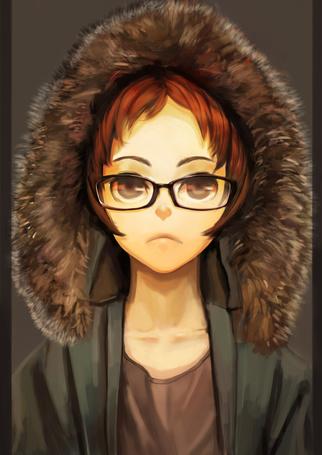 Фото Девушка в очках с капюшоном на голове (© chucha), добавлено: 28.01.2014 10:57