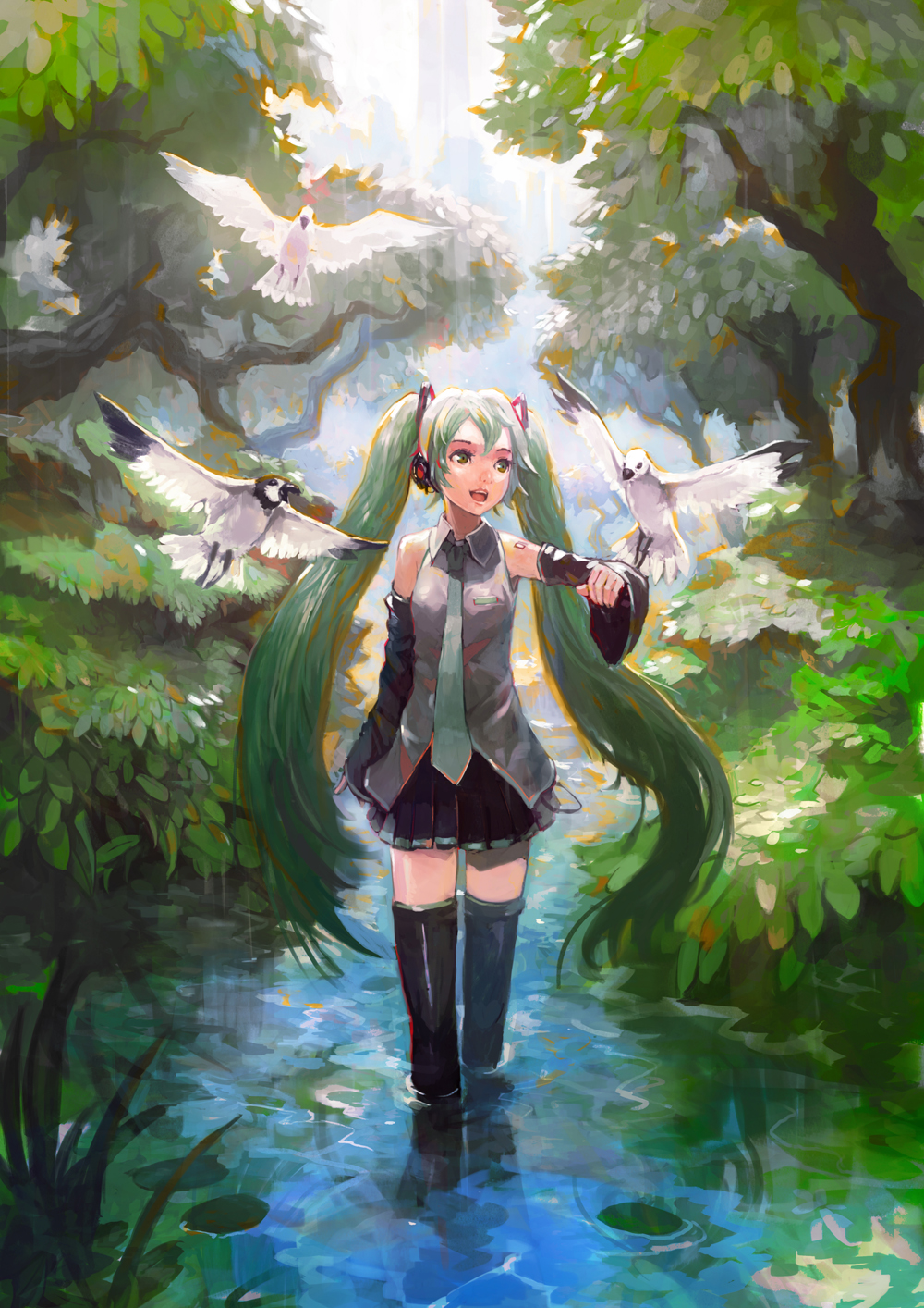 Фото Vocaloid Hatsune Miku / Вокалоид Хатсуне Мику в воде ...