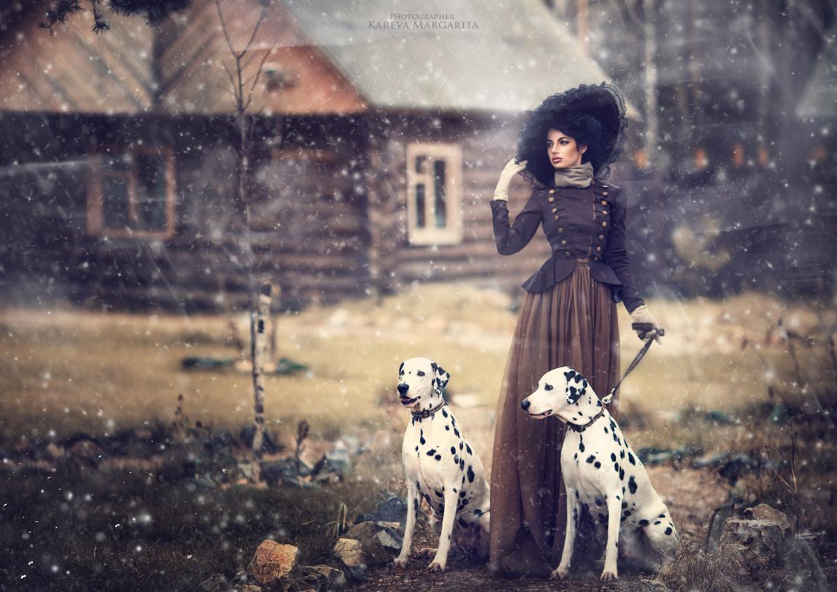 Фото Красивая, стройная девушка, держащая за поводок ...: http://photo.99px.ru/photos/138276