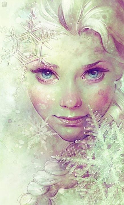 Фото Снежная королева Эльза / The Snow Queen Elsa из мультика Холодное сердце / Frozen, художница Anna Dittmann