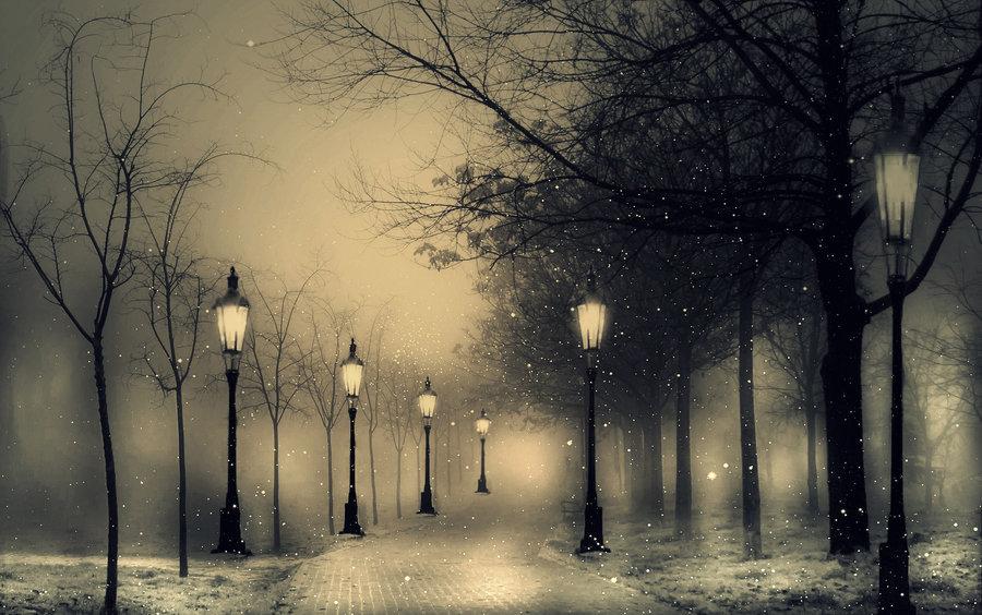 два картинки зима луна фонари тату лопатке