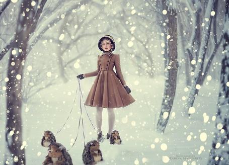Фото Девушка с ежиками на поводке. фотограф Margarita Kareva