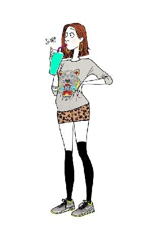 Фото Девушка пьет бирюзовый коктейль и ее волосы растут и окрашиваются в бирюзовый цвет (© Seona), добавлено: 18.02.2014 22:23