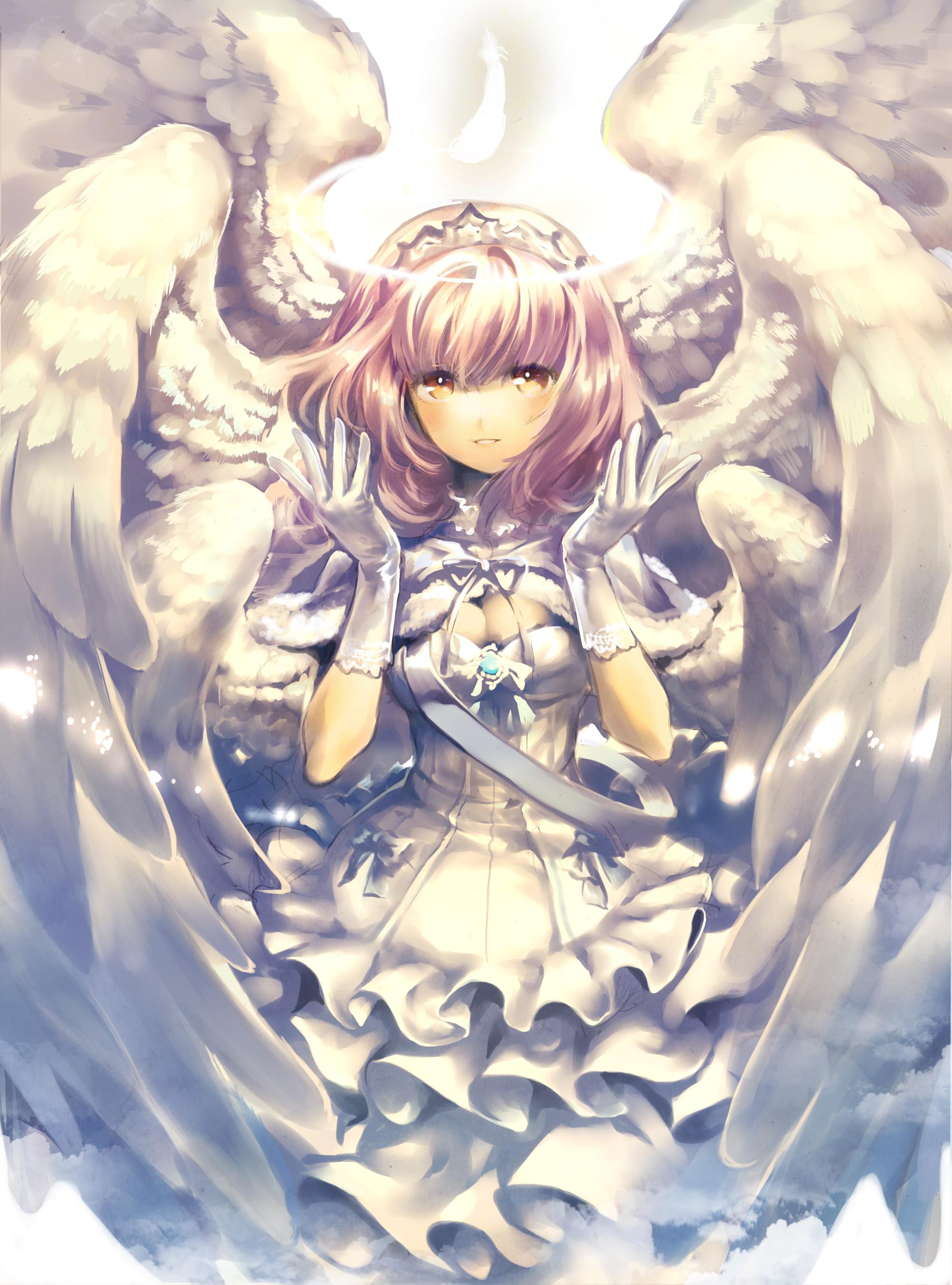 Картинки с аниме девочками ангелами, сестренке