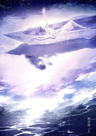 Фото Aonuma Shun / Аонума Шун и Watanabe Saki / Ватанабэ Саки из аниме Shinsekai Yori / Из нового света