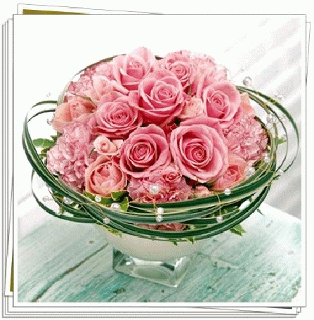 Фото букет цветы в гиф