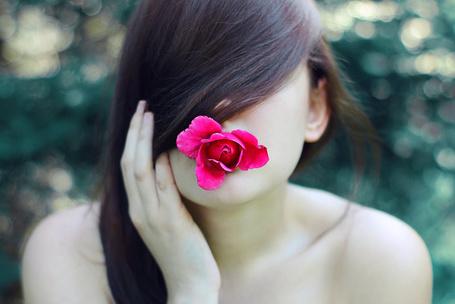 Фото Девушка с розой во рту, фотограф Megson