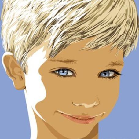 Фото Улыбающаяся белокурая голубоглазая девочка