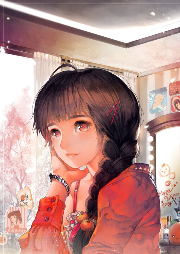 Тату для, картинки задумчивая девушка аниме