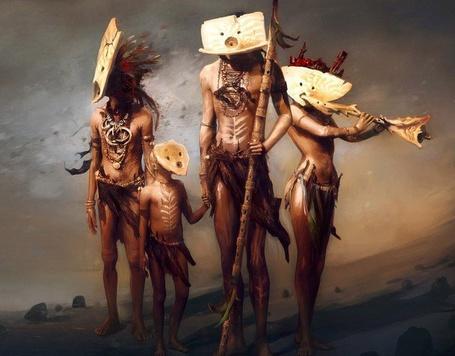 Фото Племя людей в необычных масках