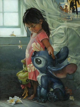 Фото Lilo Pelekai / Лило Пелекаи и Stitch / Стич из мультика Lilo & Stitch / Лило и Стич, art by Heather Theurer