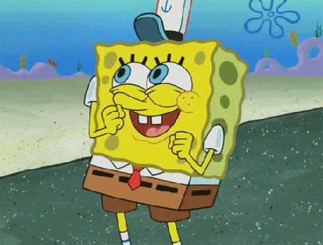 Фото Спанч Боб / SpongeBob из мультфильма Губка Боб Квадратные Штаны / SpongeBob SquarePants танцует