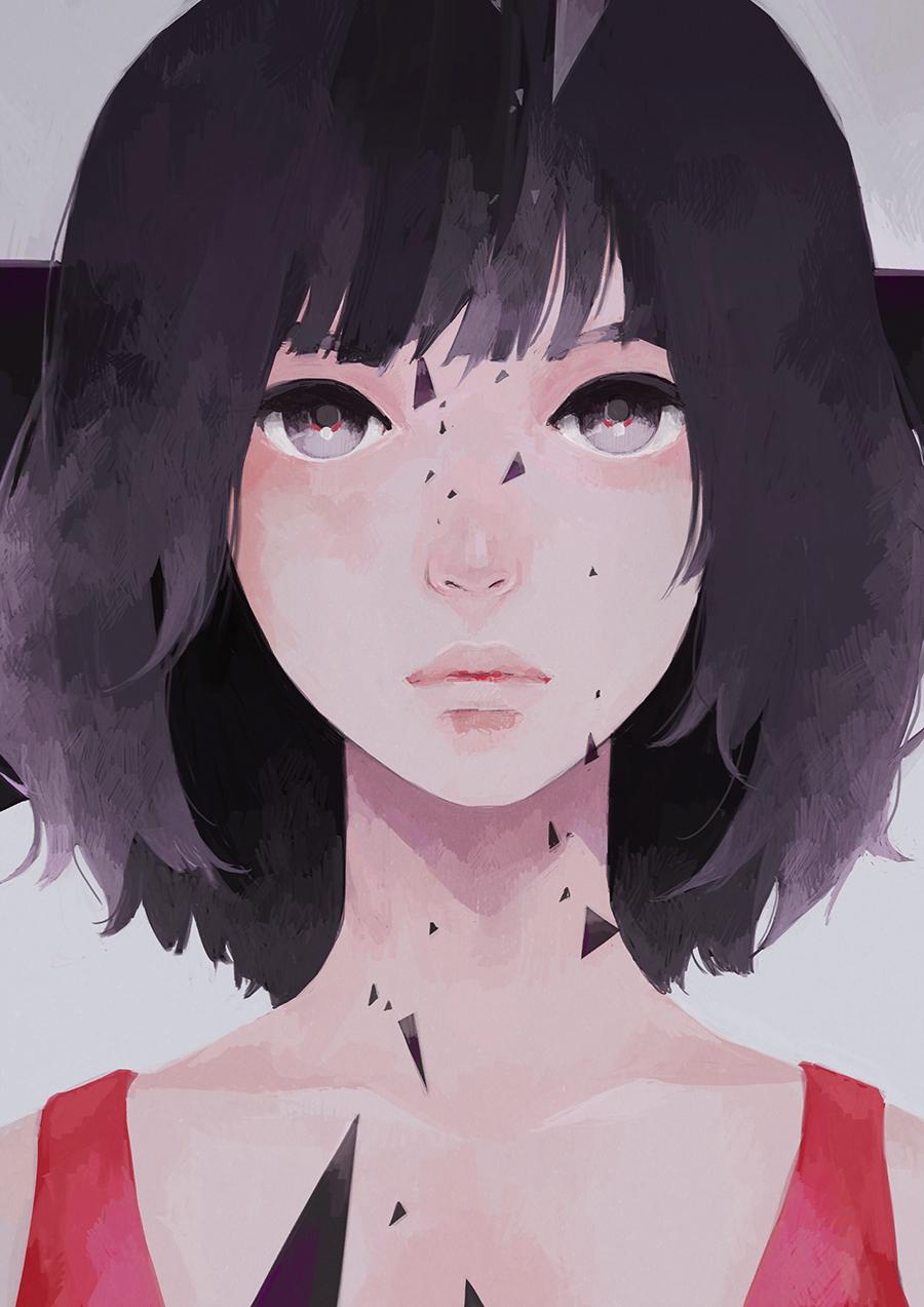 Фото Девушка с темными волосами
