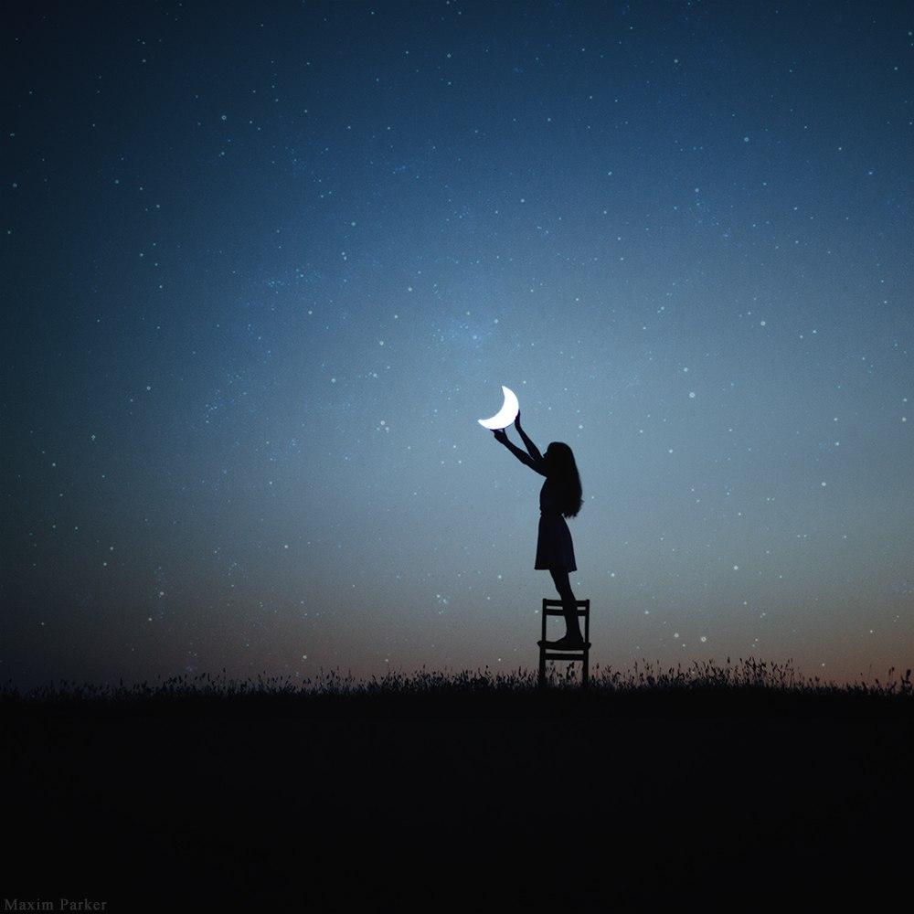 Фото на аву на луне