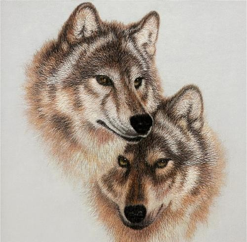 Фото волка и волчицы - 7