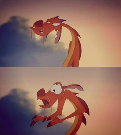 Фото Маленький дракон Mushu / Мушу из детского мультфильма Mulan / Мулан
