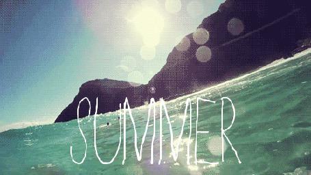Фото Море и горы, над ними голубое небо (summer / лето)