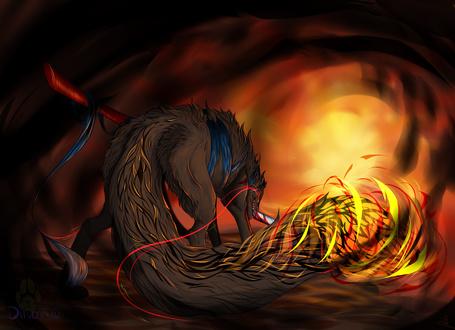 Фото Огненный волк, by Diivon