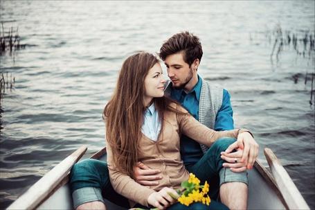 Фото Мужчина с девушкой в лодке, фотограф Peter Pushkin