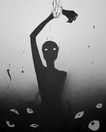 Фото Тень с оторванной рукой и глаза, наблюдающие за ней (© Krista Zarubin), добавлено: 15.05.2014 14:37