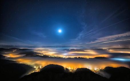 Фото Огни ночного Цюриха, Швейцария (© PolinaPolina), добавлено: 19.05.2014 21:16
