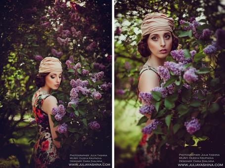 Фото Девушка около цветущей сирени, фотограф Юлия Яшина