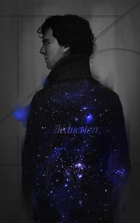 Фото Бенедикт Камбербэтч / Benedict Cumberbatch в роли Шерлока Холмса / Sherlock Holmes из телесериала Шерлок / Sherlock, art by mkw-no-ossan (deduction)