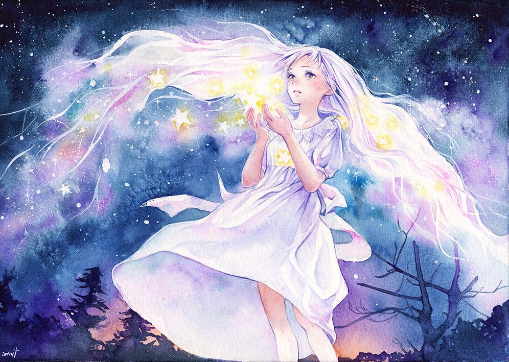 Девочка со звездочками картинки