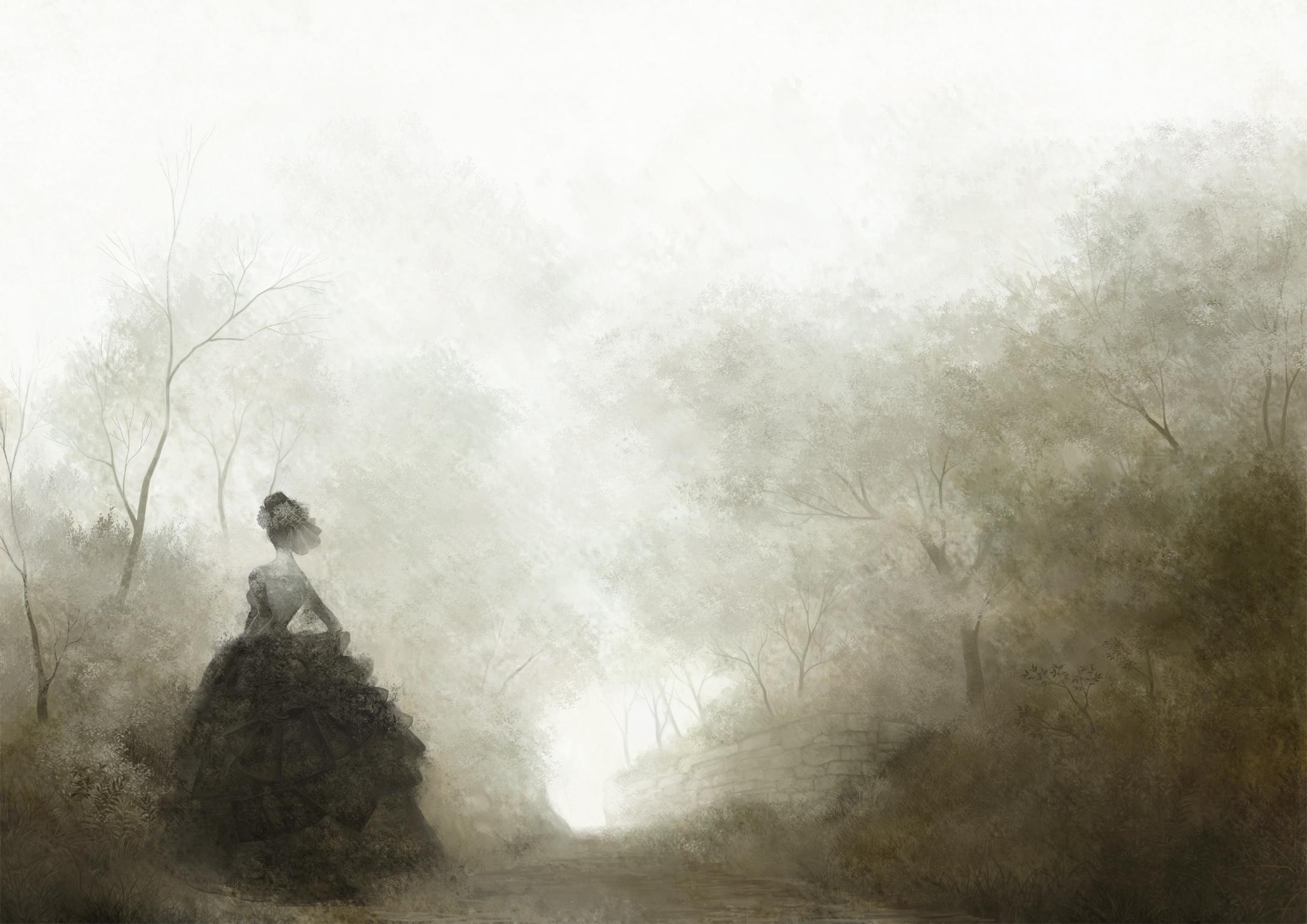 Фото женщины в тумане 17 фотография