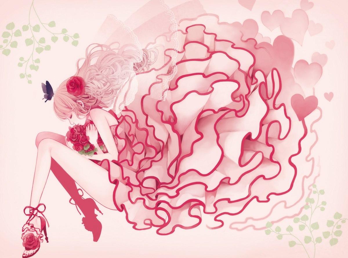 Девочка на розовом фоне картинка