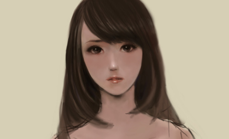 Фото Грустное лицо девушки