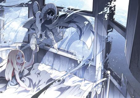 Фото Девочка протягивает руку демону, art by asakura masatoki