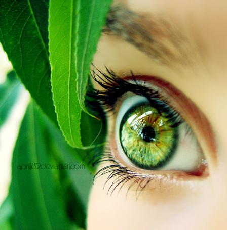 Фото Зеленый глаз девушки, by april182