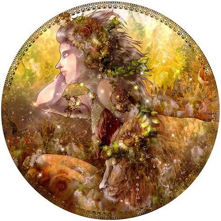Фото Девушка и лев, знак Зодиака Лев, art by Arcadia