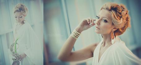 Фото Портрет светловолосой девушки блондинки