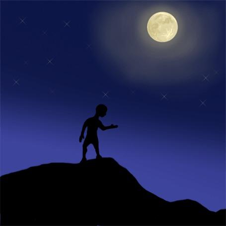 Фото Человек превращается в волка под полной луной