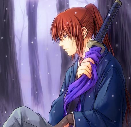 Фото Химура Кеншин / Himura Kenshin из аниме Самурай Х / Samurai Х / Бродяга Кеншин / Tramp Kenshin