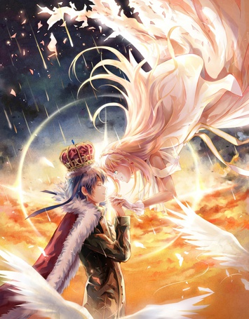 Фото Ника и Ливи из аниме И все-таки мир прекрасен / Soredemo Sekai wa Utsukushii