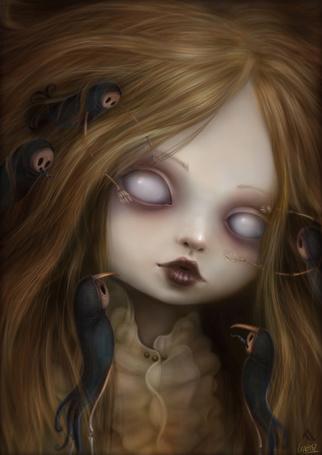 Фото У девочки в волосах сидят демоны