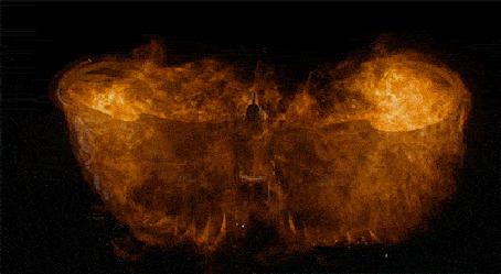 Фото Взлетающий огненный ворон