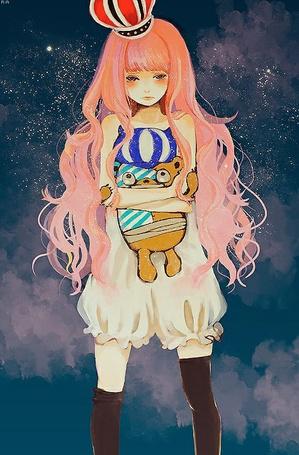 Вокалоид с розовыми волосами