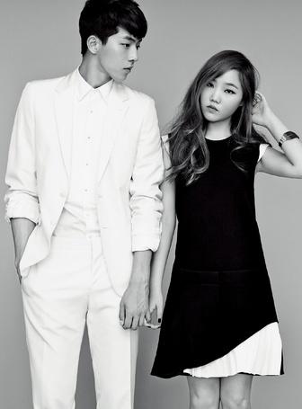 Фото Lee Soo Hyun / Ли СуХен из южно-корейской группы Akdong Musician (AKMU) и модель Nam Ju Hyuk / Нам ДжуХек в фотосессии для High Cut
