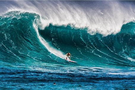 Фото Мужчина во время серфинга, by Warren Ishii