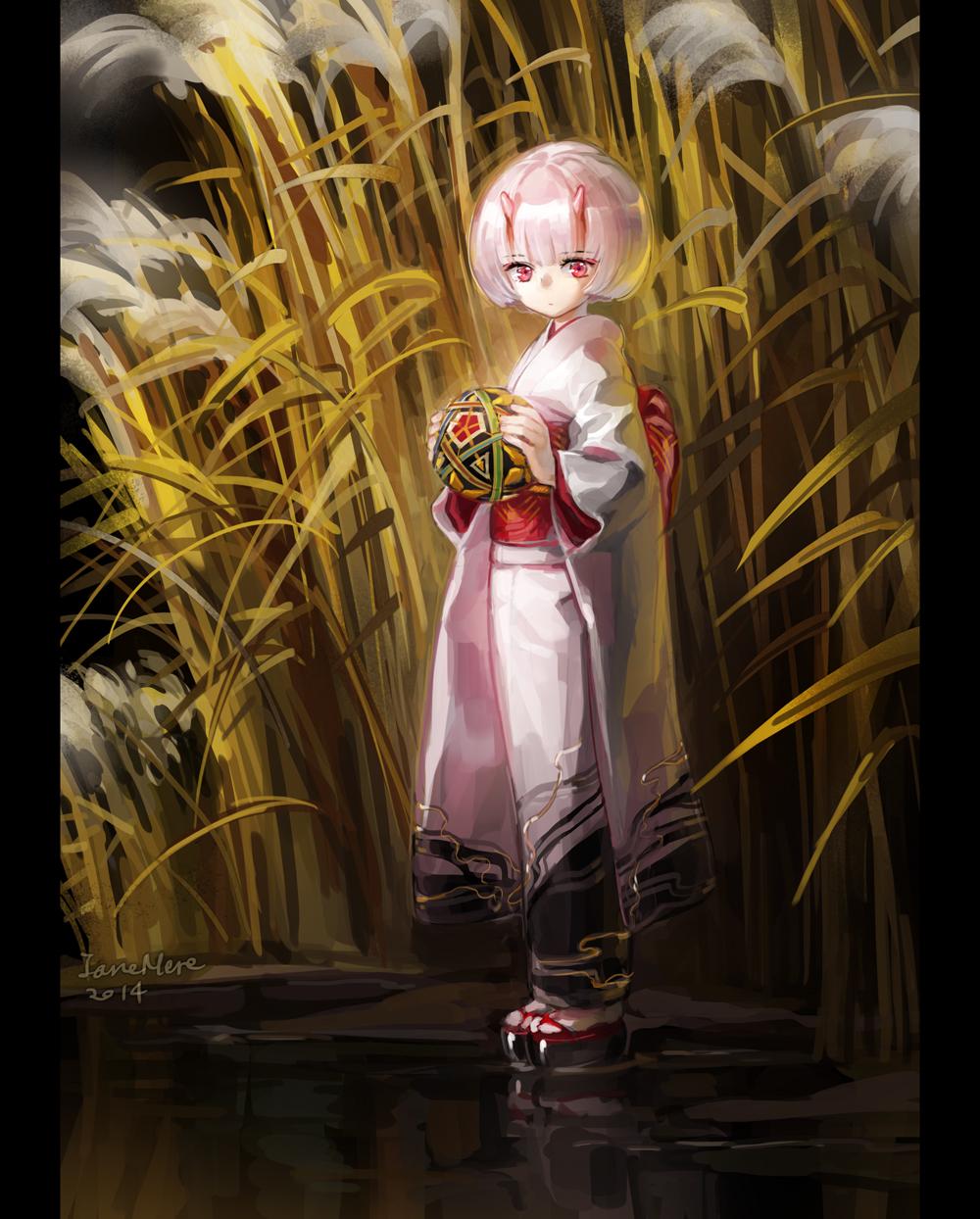 Фото Девочка-демон с мячиком в руках, art by JaneMere
